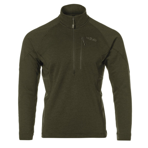 Rab FLEECE Top Men's Nucleus Pull-On Army