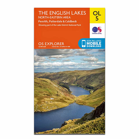 OS Explorer ACTIVE Map OL5 The English Lakes - North Eastern