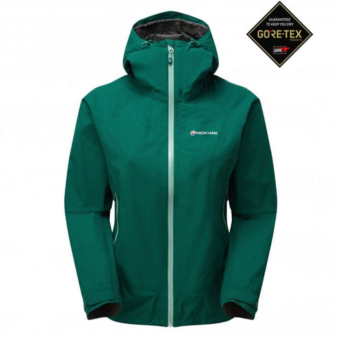 Women's Montane Pac Plus Waterproof Jacket - Green