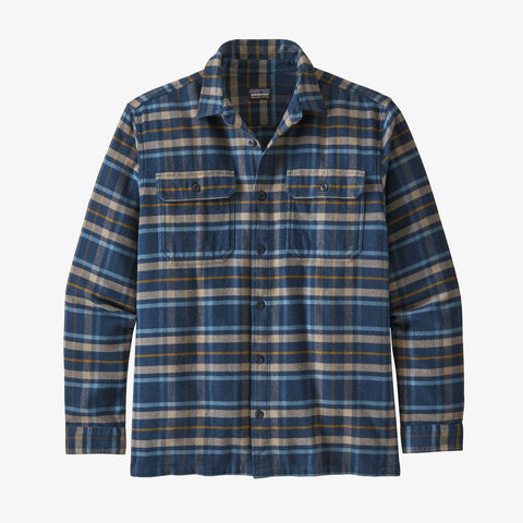 Men's Patagonia Fjord Flannel LS Shirt - Blue
