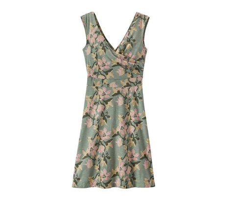 Patagonia Women's Porch Song Dress- Blossom Ellwood Green