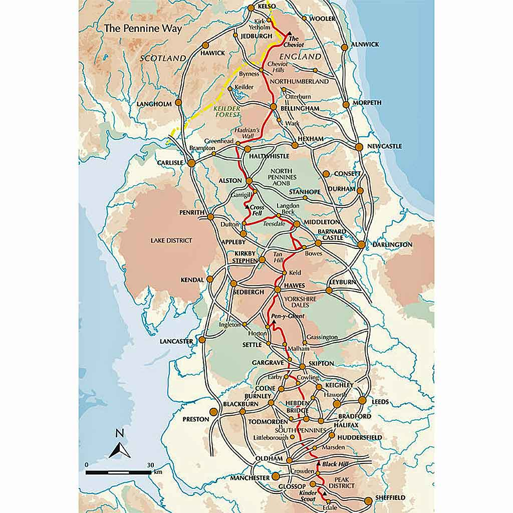 Cicerone Guide Book: Walking The Pennine Way