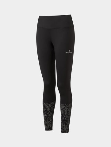 Women's Ron Hill Life Nightrunner Tight - Black