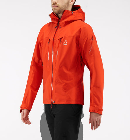 Men's Haglofs Spitz Waterproof Jacket- Orange