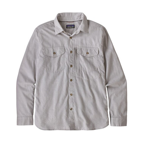 Patagonia Men's Long-Sleeved Cayo Largo II Shirt- Chambray Feather Grey