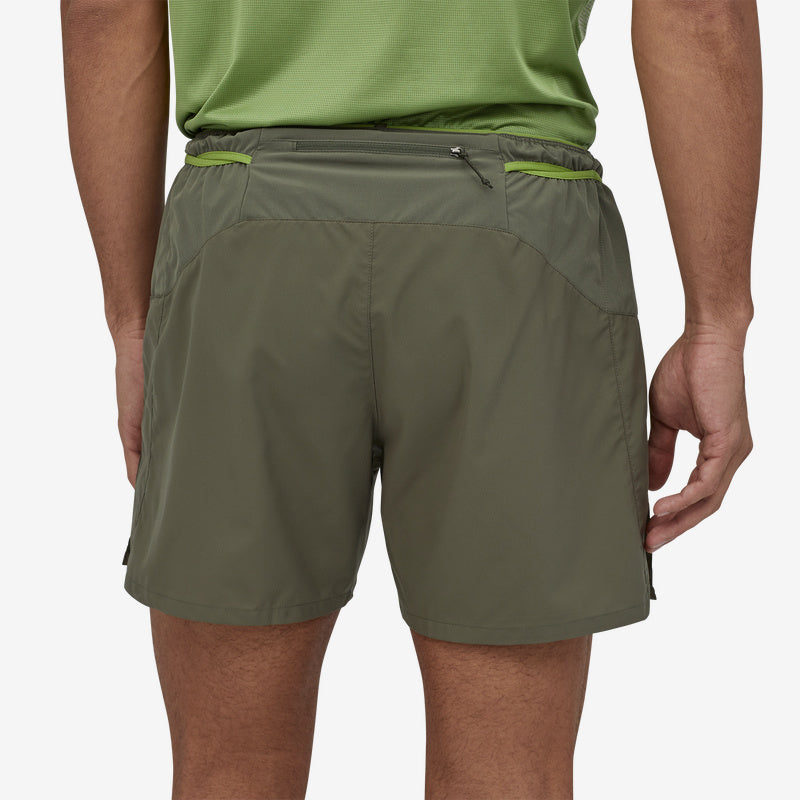 "Patagonia Men's Strider Pro Shorts - 5""- Industrial Green"