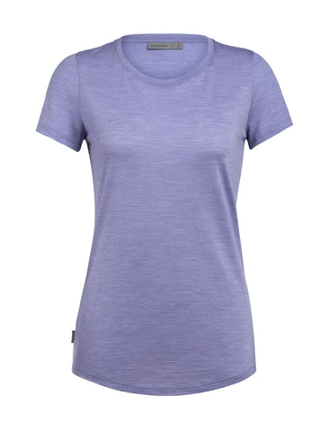 Icebreaker Women's Sphere Short Sleeve Low Crewe- Orchid Heather