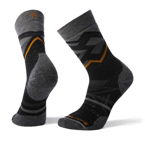Smartwool HIKING Socks Men's PhD Outdoor Medium Pattern Crew Black Heather