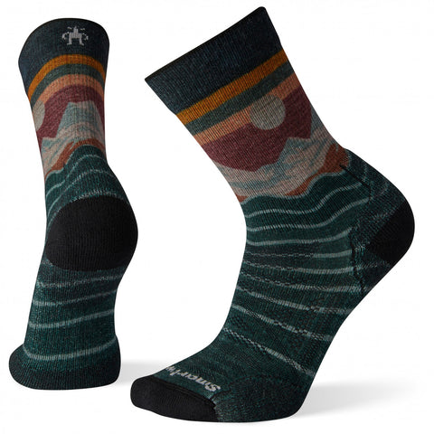 Smartwool Men's PhD Outdoor Light Front Range Print Crew Sock - Everglades