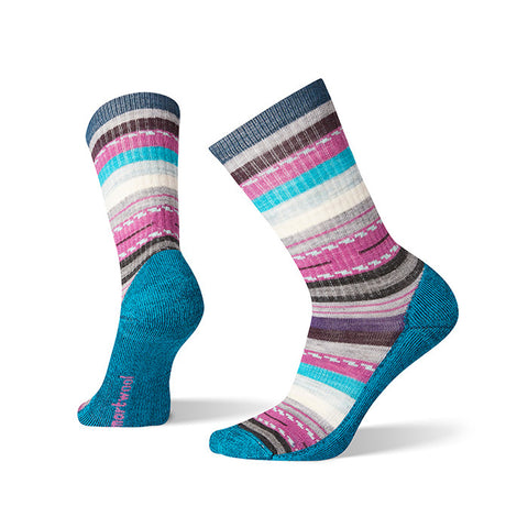 Smartwool Women's Hike Light Margarita Crew Hiking Sock - Depp Marlin
