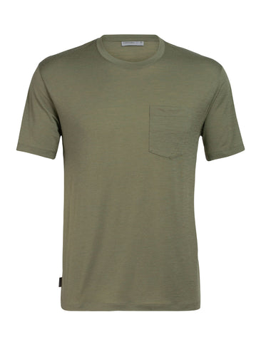 Icebreaker Men's Ravyn Short Sleeve Pocket Crewe Tee- Cypress