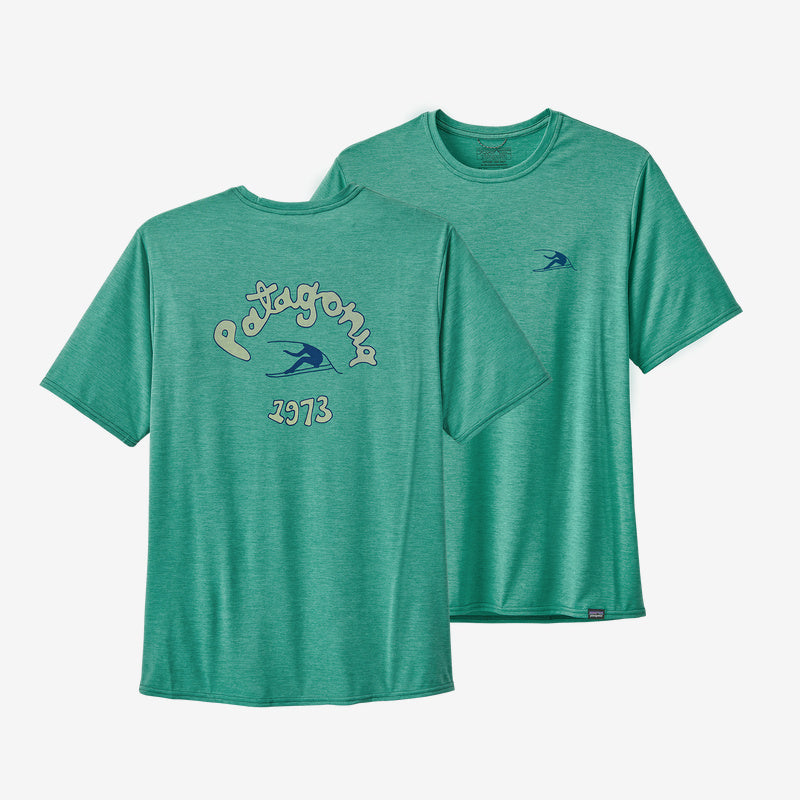 Patagonia Men's Capilene Cool Daily Graphic Shirt- Beryl Green X-Dye