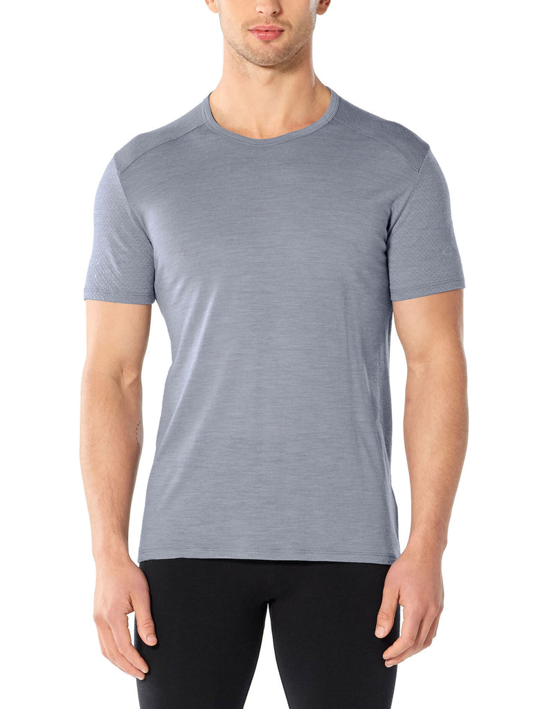 Icebreaker Men's Amplify Short Sleeve Crewe- Mineral Heather
