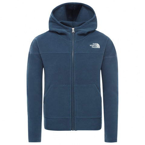 The North Face Kids' Girl Glacier Full Zip Hoodie - Navy
