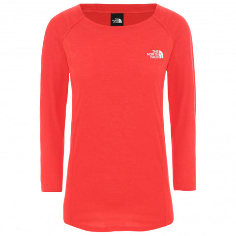 The North Face Women's Hikesteller 3/4 Sleeve Top - Red