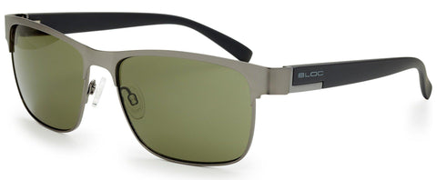 Bloc Deck Matt Gun Black Temple Sunglasses