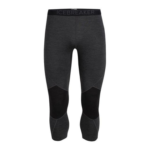 Icebreaker Men's BodyfitZone Merino 260 Zone 3/4 Thermal Leggings - 2020 - Jet Heather Black