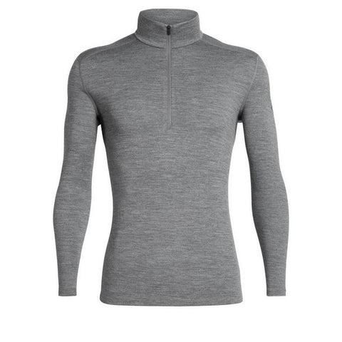 Icebreaker Men's Merino 260 Tech Long Sleeve Half Zip Thermal Top - Gritstone Heather