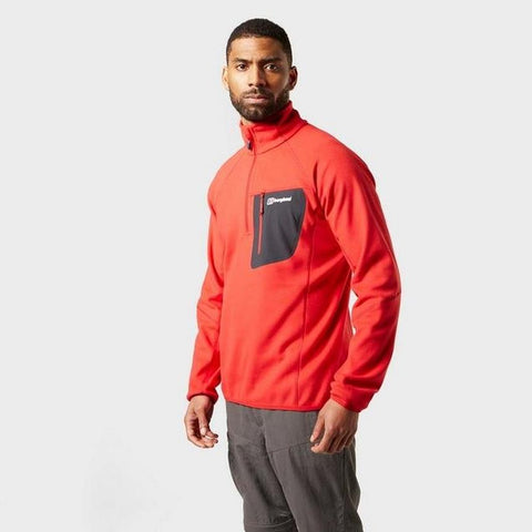 Berghaus Men's Kedron Half Zip Fleece - Haute Red