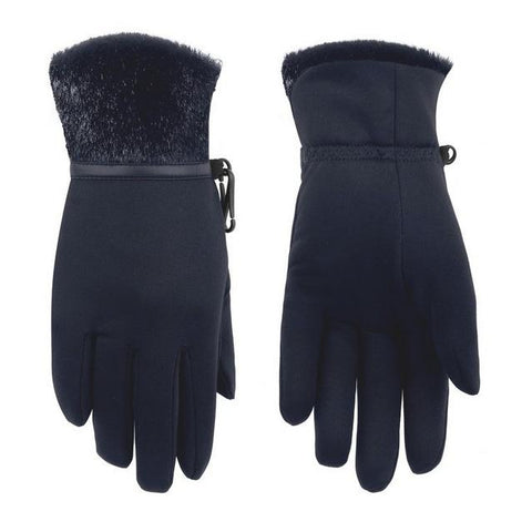 Poivre Blanc Women's Stretch Fleece Glove - Bubbly Gothic Blue