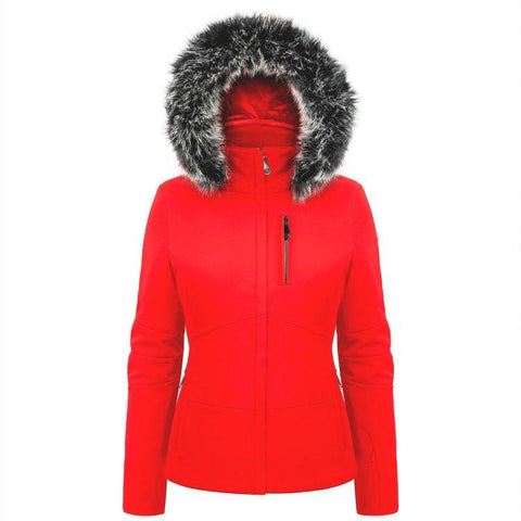 Poivre Blanc Women's Stretch Ski Jacket - Scarlet Red