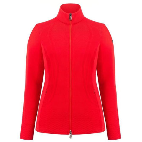 Poivre Blanc Women's Hybrid Knit Jacket - Scarlet Red