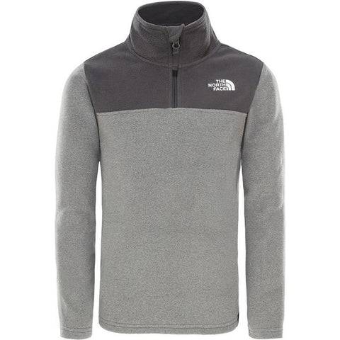 The North Face Kid's Youth Glacier 1/4 Zip - Grey Heather