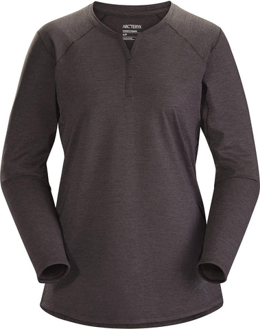 Arcteryx Women's Kadem Henley Top LS - Black