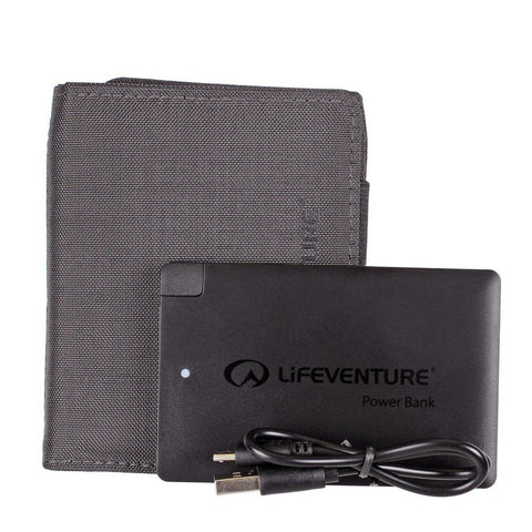 Lifeventure RFID Charger Wallet & Power Bank - Black