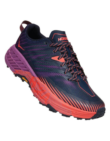 Hoka Women's Speedgoat 4 - Outer Space / Hot Coral