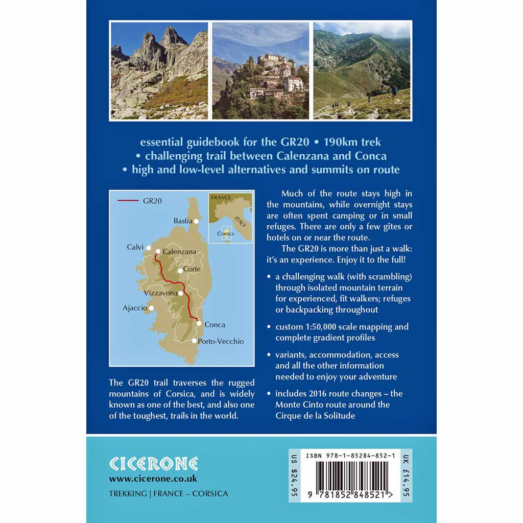 Cicerone Guide Book: Trekking the GR20 Corsica: The High Level Route : Dillon