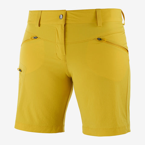 Salomon Women's Wayfarer Short- Lemon Curry