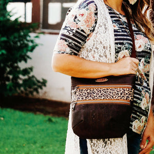 Crossbody Cork and Waxed Canvas bags made in Texas but Sweet Bella Bags