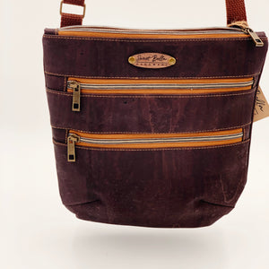 Sale- Crossbody Kamren In All Chocolate Cork