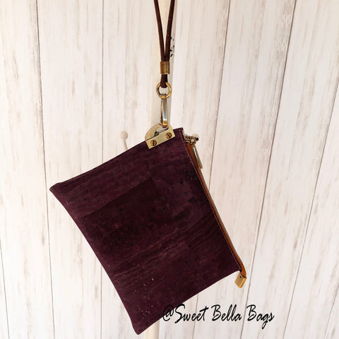 The Tiffany Clutch Bag Made From Purple Cork