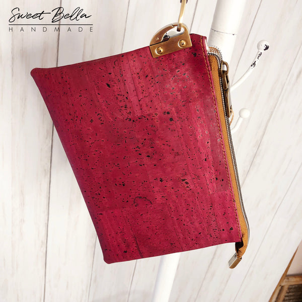 The Tiffany Clutch Bag Made From Cranberry Cork