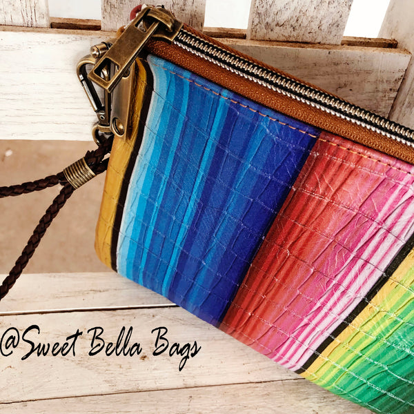 The Tiffany Clutch Bag Made From Serape Leather