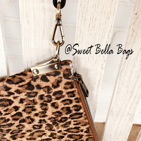 The Tiffany Clutch Bag Made From Cheetah Cork