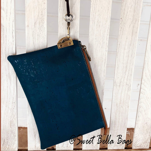 The Tiffany Clutch Made From Teal Cork