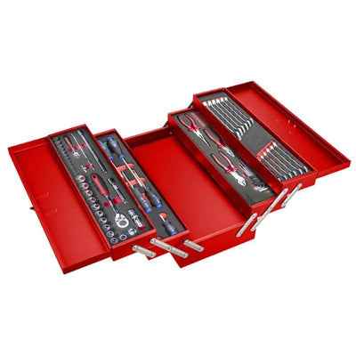 5 Tray Carry Box With 61pcs Tool Set - Wadamart