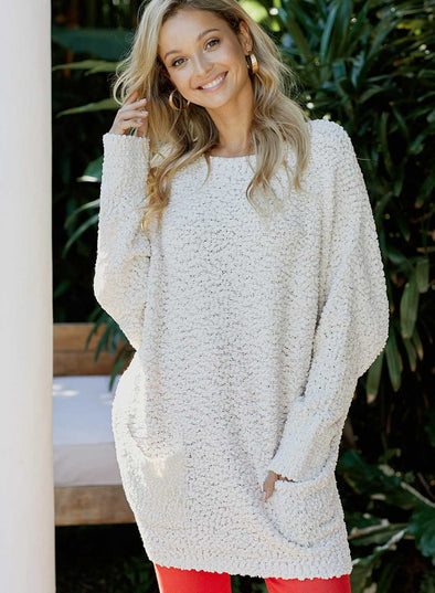 Winter Break Knit Tunic Sweater