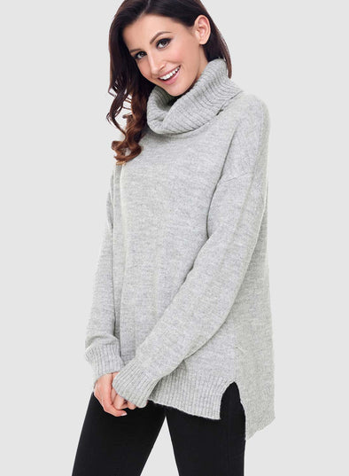 Knit High Neck Loose Sweater