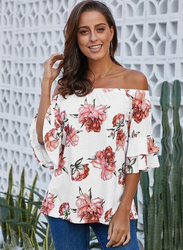 Bring on The Floral Off The Shoulder Top