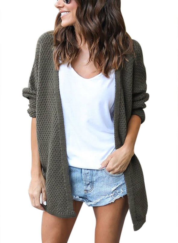 Windy Morning Waffle Cardigan