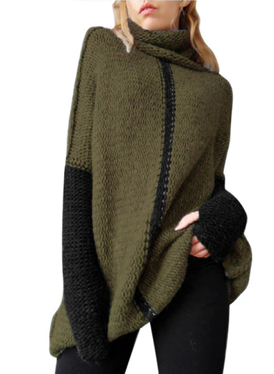 Individual Cowl Neck Pullover Sweater