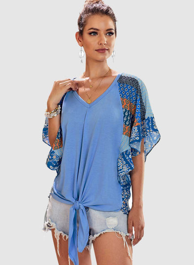 Fashion Casual Short Sleeved Printed Top T-Shirt