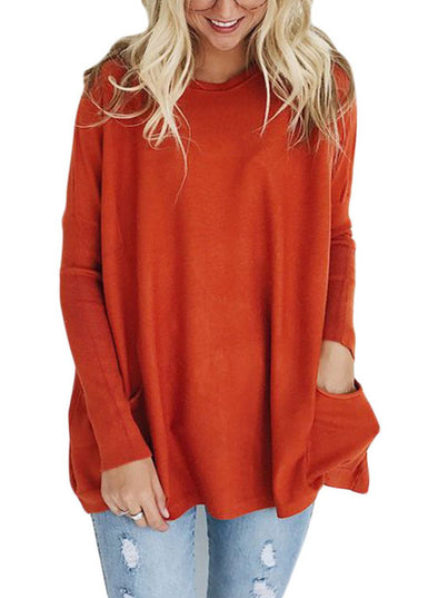 Oversize Fit Pocket Sweater Tunic