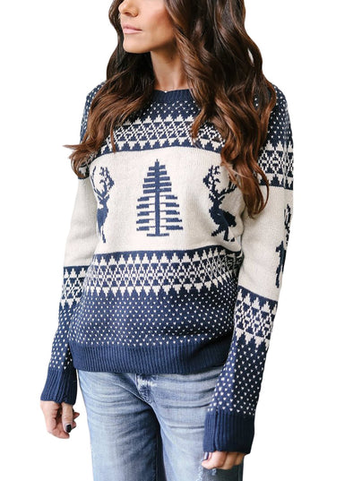 Reindeer and Christmas Tree Sweater