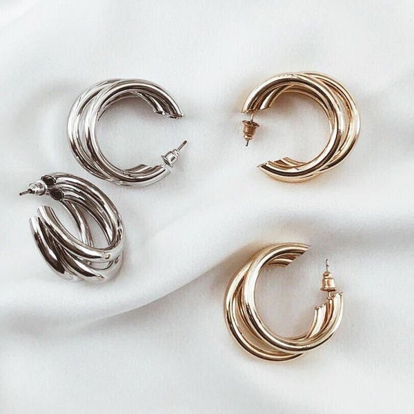 Earrings | Triple Hoops