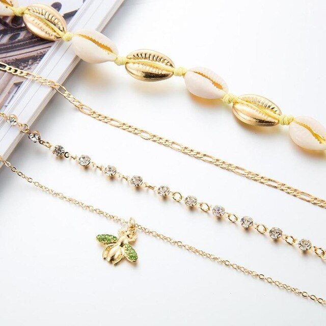 Anklet | Bee And Shell